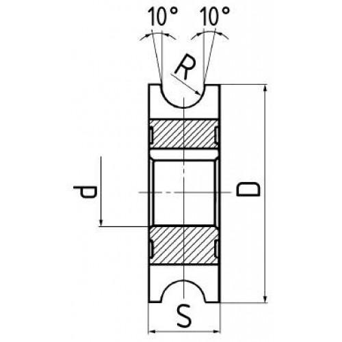 Fréza polkruhová vydutá HSS, DIN 855 A, ISO 3860, ČSN 222230