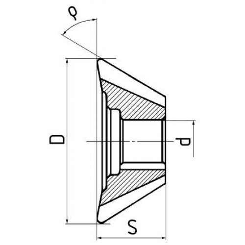 Fréza uhlová čelná HSS, DIN 842, ČSN 222254