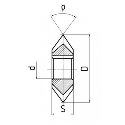 Fréza uhlová obojstranná-súmerná HSS, DIN 847, ISO 6108, ČSN 222250