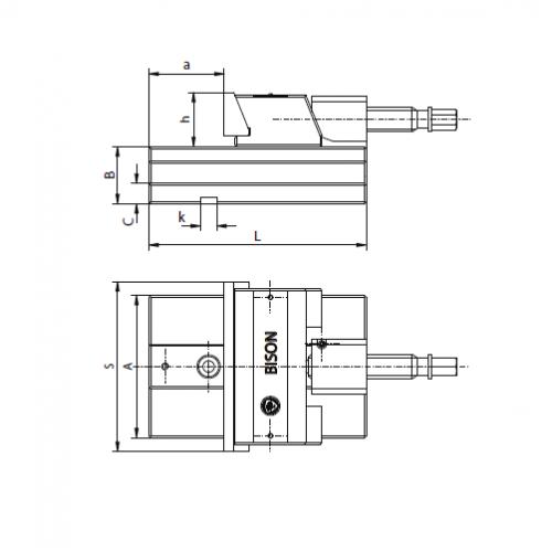 Presný strojný zverák - modul s pohyblivou čeľusťou, typ 6622