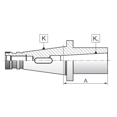 Redukčné púzdro pre nástroje s Morse kužeľom, DIN 2080, Typ 1657