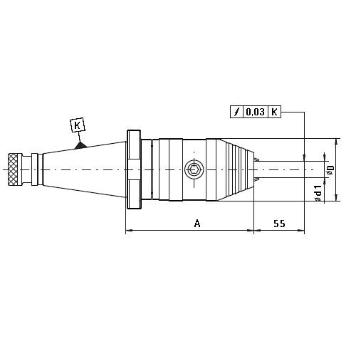 Trň s samosvorným skľučovadlom, DIN 2080, Typ 7662
