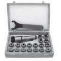Klieštinový upínač s sadou klieštin ER, pre nástroje s valcovou stopkou,  DIN 228-A, Typ 7711