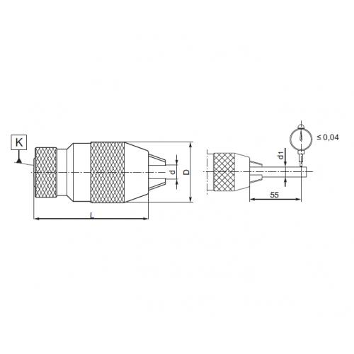 Samosvorné vŕtačkové skľučovadlo, ČSN 241323, Typ 5133
