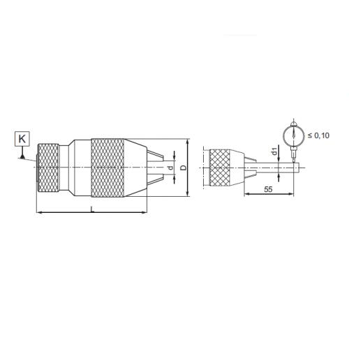 Samosvorné vŕtačkové skľučovadlo, ČSN 241323, Typ 5134-EKO